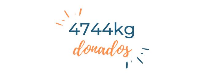 4744Kg donados